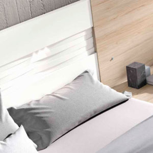 Dormitorio matrimonio moderno COSMO EOS Composición 22 detalle cabecero Muebles Trimobel Getafe 1