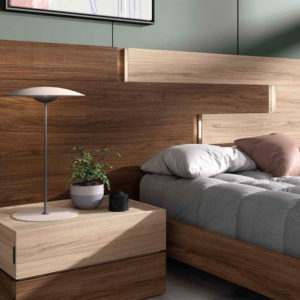 Dormitorio matrimonio moderno COSMO EOS Composición 24 DETALLE MESITA Muebles Trimobel Getafe 1