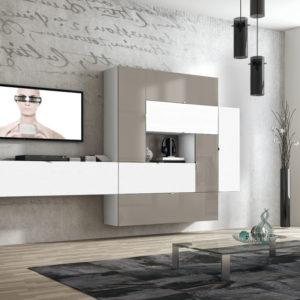 Mueble Salón moderno 07 Best Canoil lacados alto brillo Muebles Trimobel Getafe