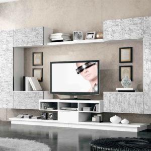 Mueble Salón moderno Best 28 Canoil estampado original gris Muebles Trimobel Getafe