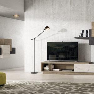 Mueble Salón moderno Best 41 Canoil contraste de maderas Muebles Trimobel Getafe