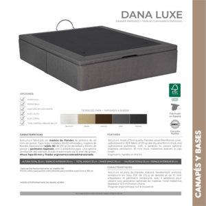 Canape de madera y tapa 3D Dana Luxe Korflex Muebles Trimobel Caracteristicas tecnicas
