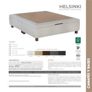 Canape de madera y tapa 3D Helsinki Korflex Muebles Trimobel Caracteristicas tecnicas